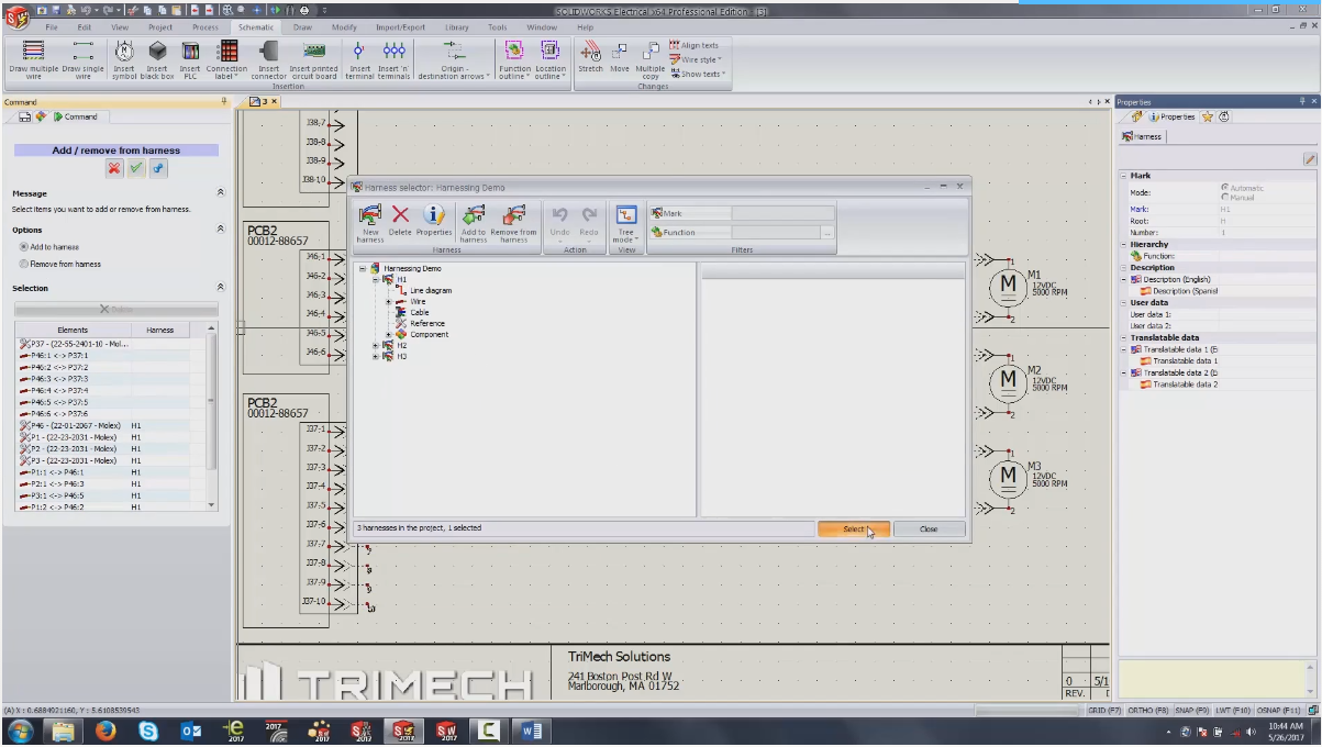 SOLIDWORKS Electrical Harness Documentation