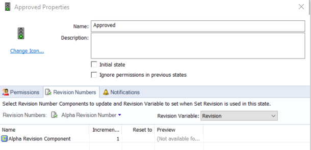 Revision Number Approved Properties