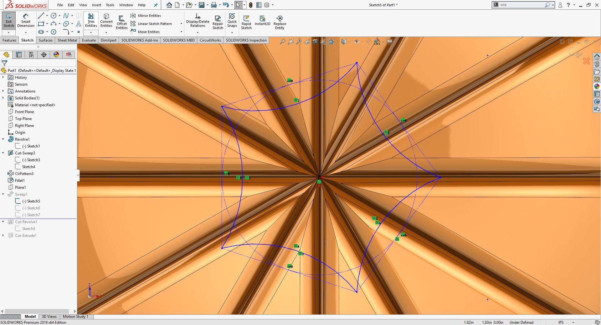 SOLIDWORKS Polygon Tool