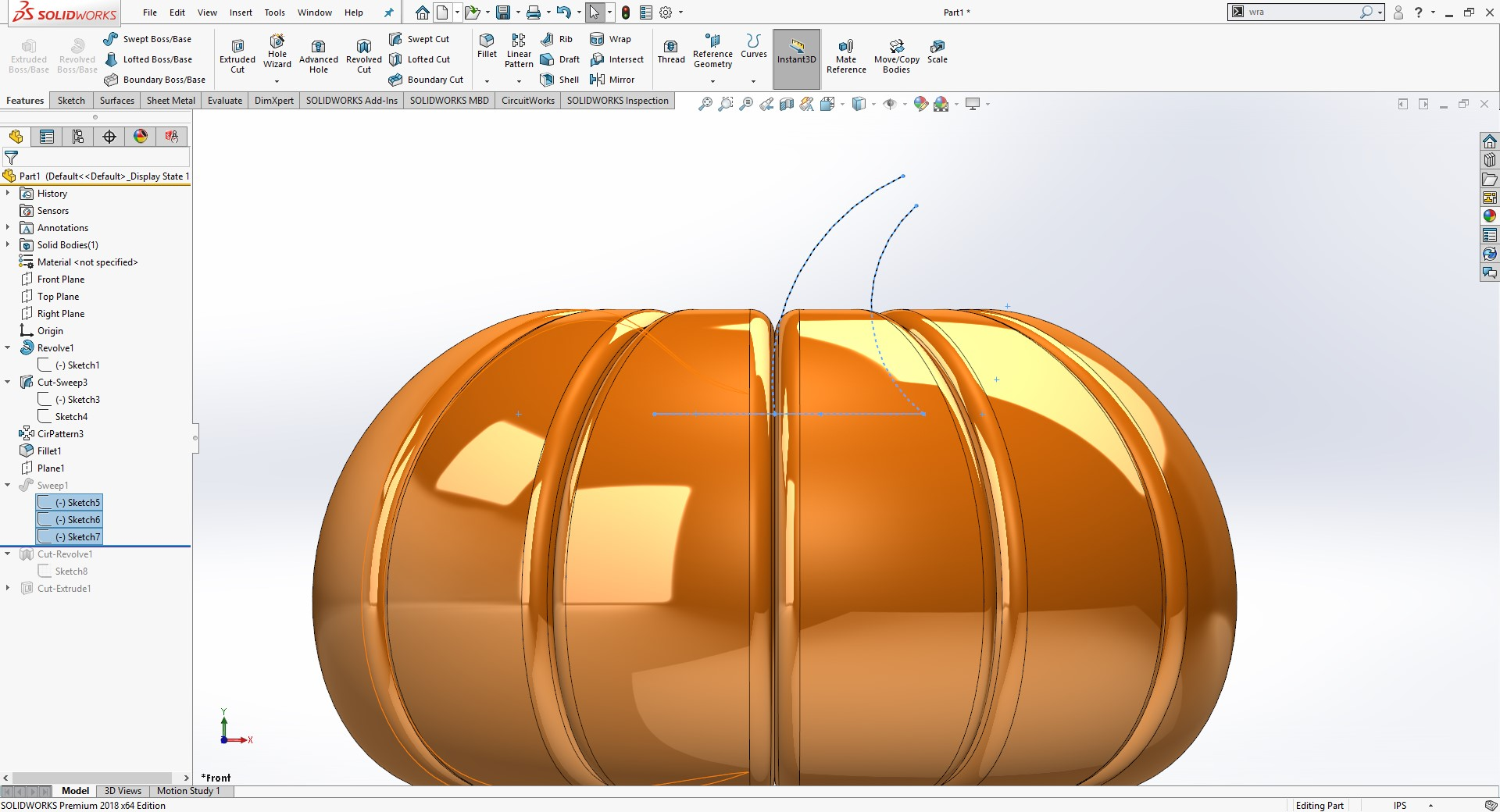 SOLIDWORKS guidelines for sweep