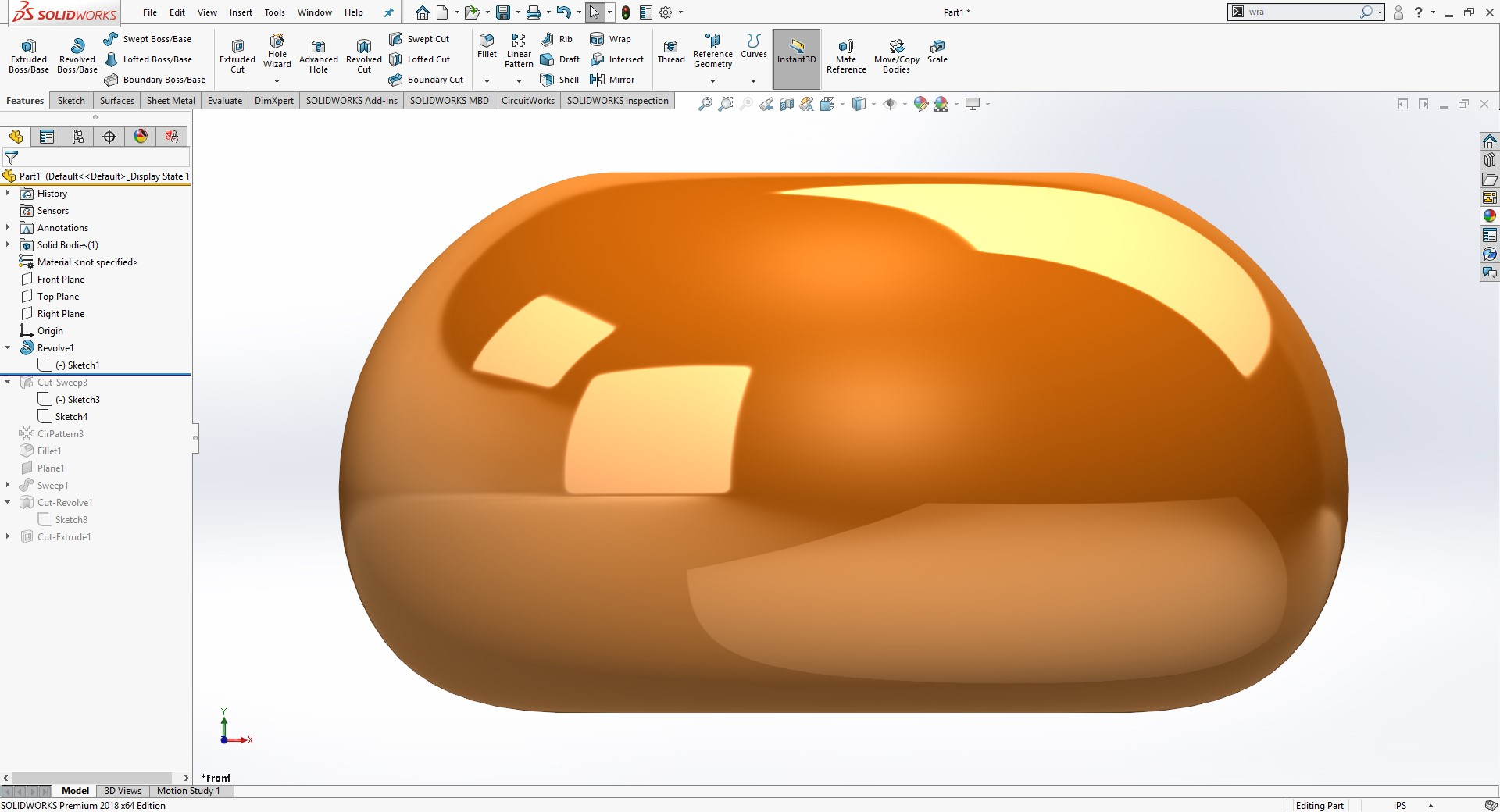 SOLIDWORKS Revolve Feature