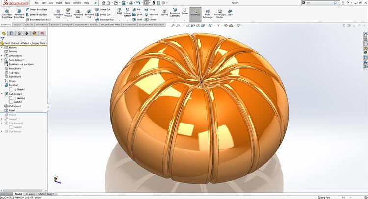 SOLIDWORKS Fillet Selection Manager