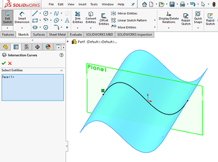 Intersection Curve Sketching Tool in SOLIDWORKS