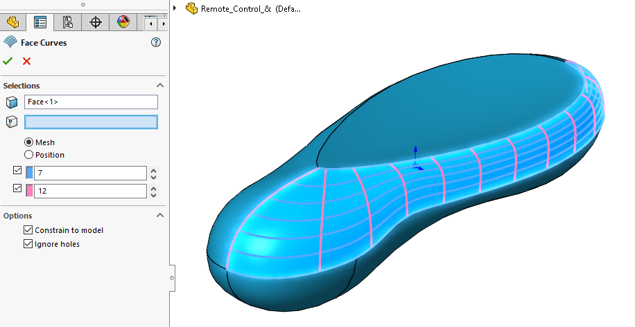 Face Curves Sketching Tool in SOLIDWORKS