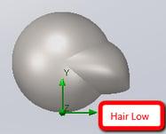 Low Hair Simulation