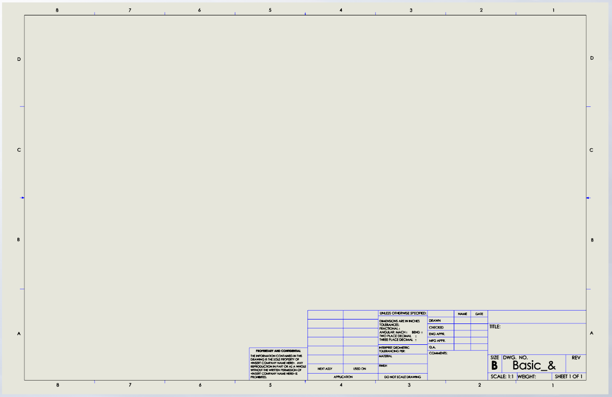 SOLIDWORKS Drawing Templates
