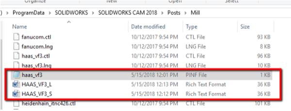 Camworks Post Processor Files
