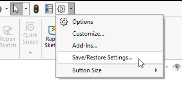 Save/Restore Settings