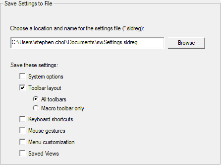 Save Settings to File