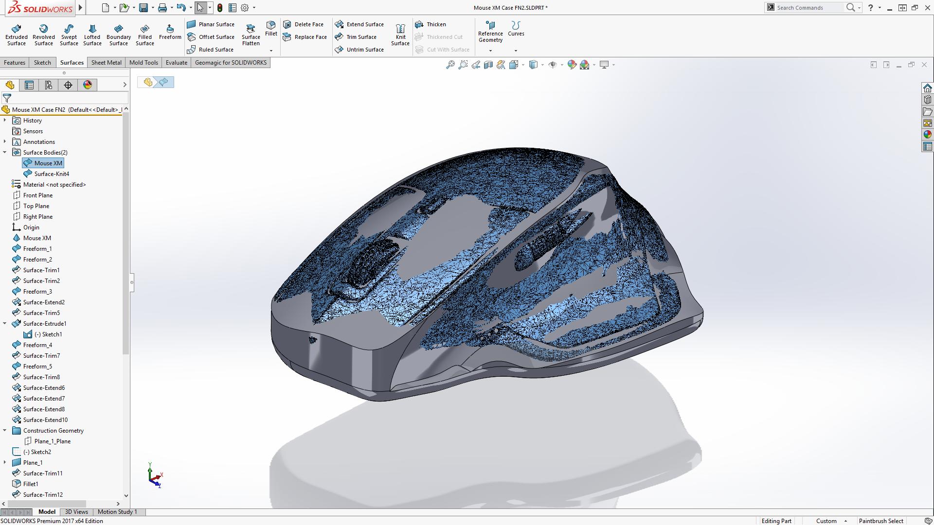 Final surface profile