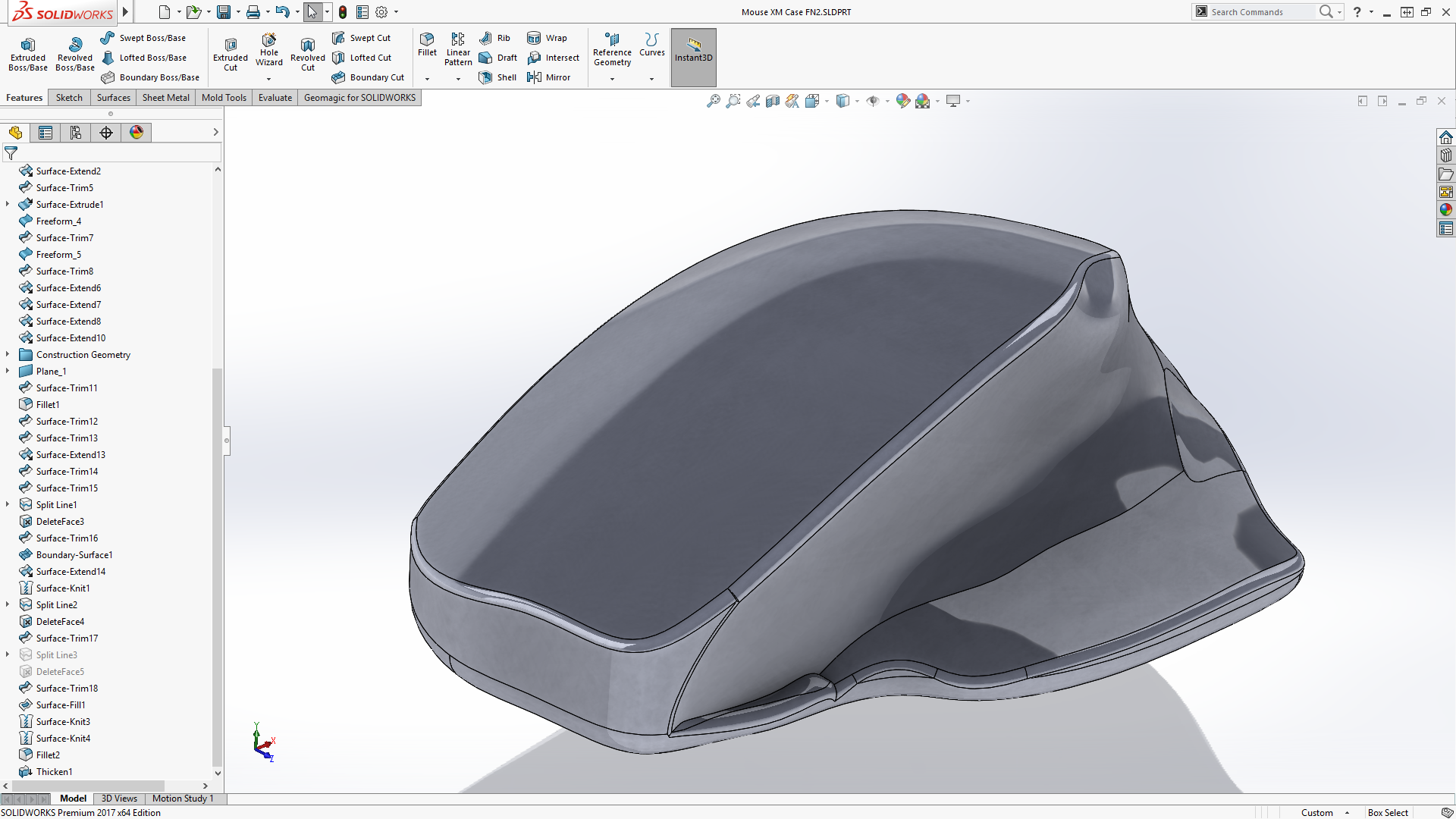 3D Scanner Technology to Reverse Engineer a Custom Mouse Case