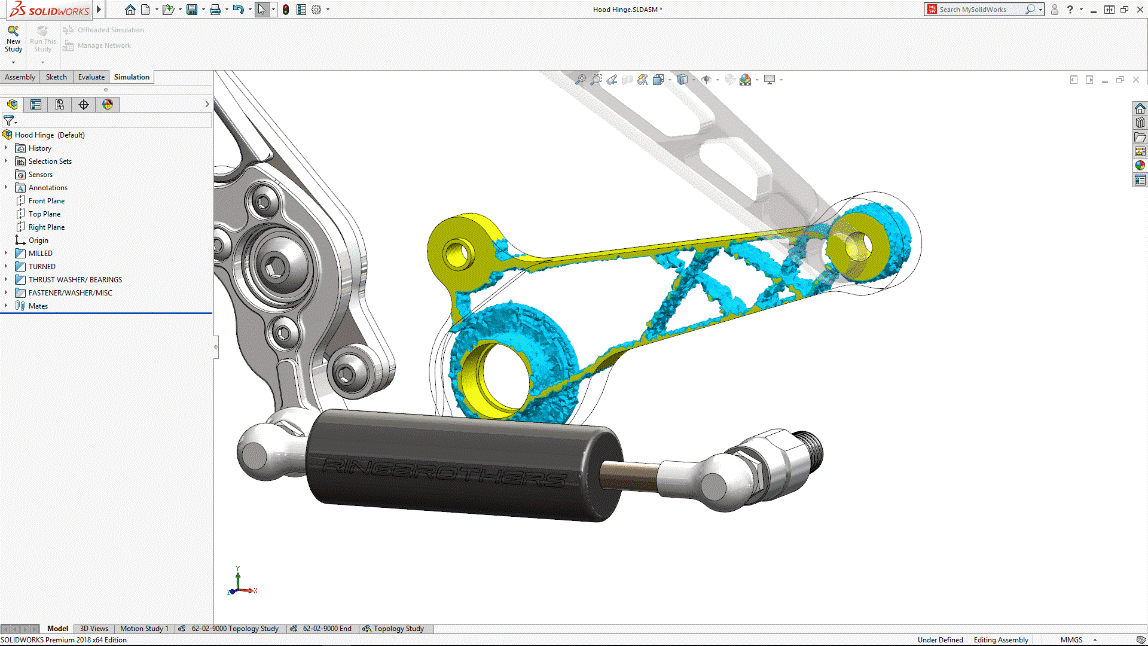 SOLIDWORKS Topology Study