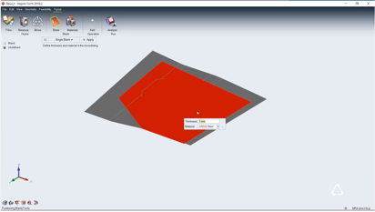 Import Geometry and Define Blank in Altair Inspire Form