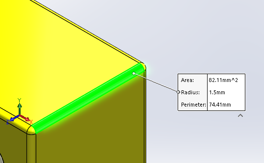 SOLIDWORKS Measuring Tool
