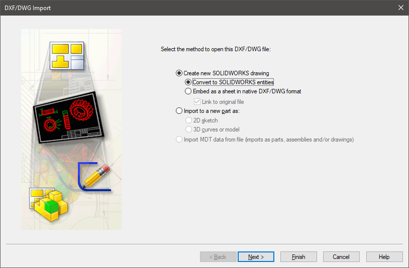 DXF/DWG file Import