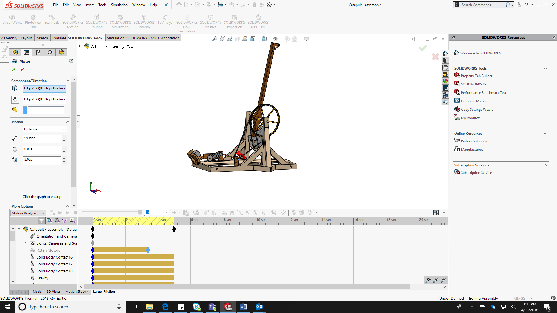 solidworks model motion training class