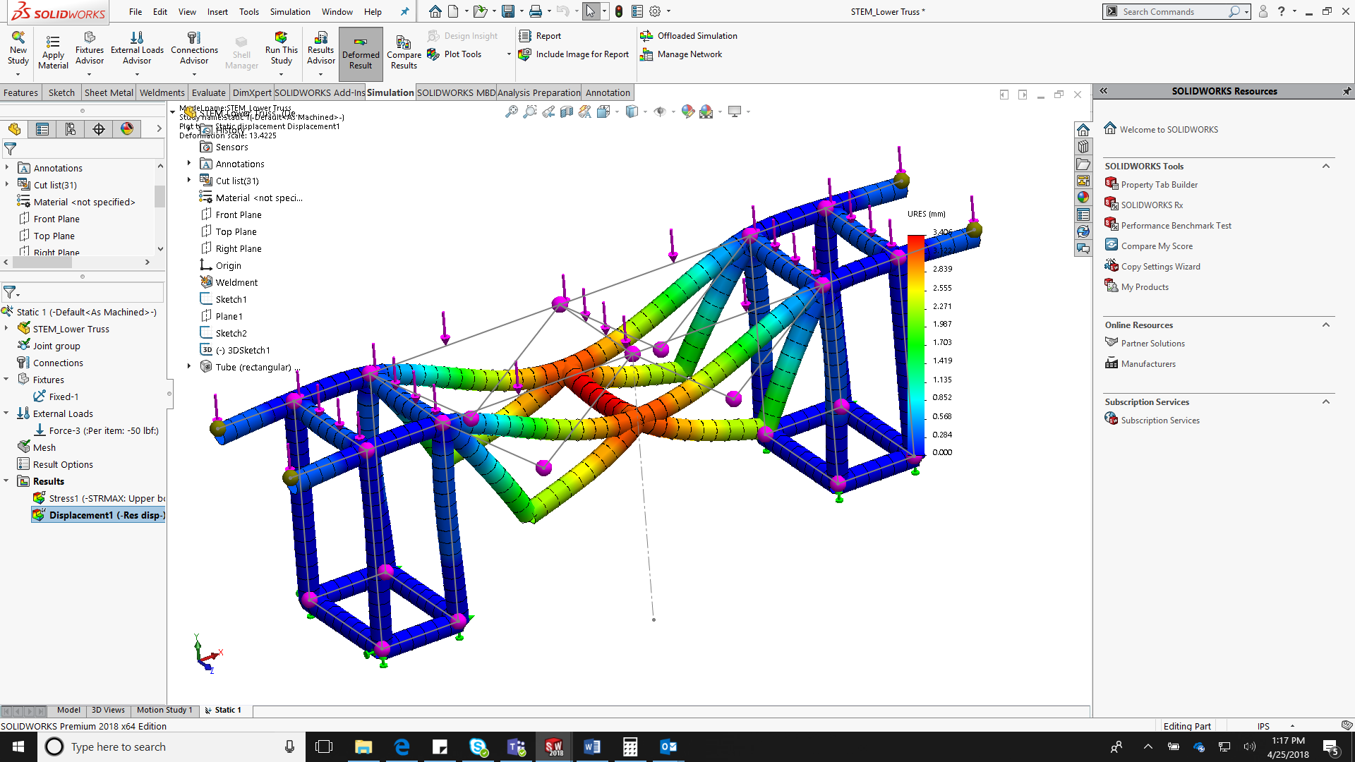 National STEM Day - Part 1: Building a Truss with SOLIDWORKS