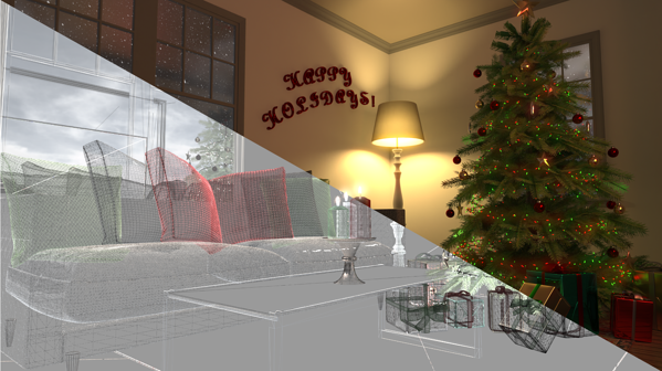 Visualize Holiday Scene