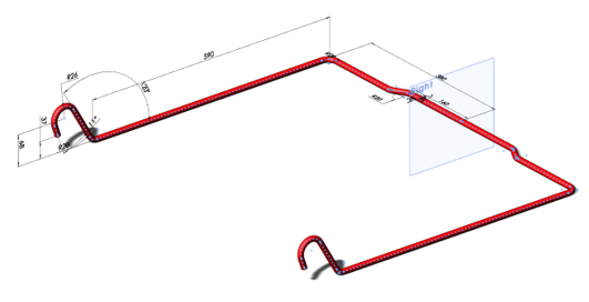 Mirror 2D and 3D Sketch Geometry About Planes