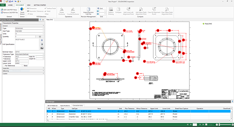 Smart Extract in SOLIDWORKS Inspection