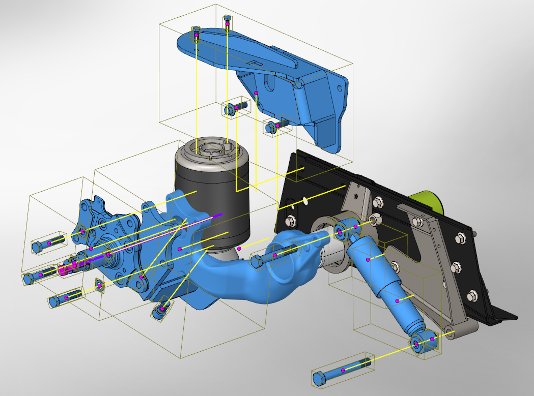 Example Smart Explode Lines SOLIDWORKS 2018