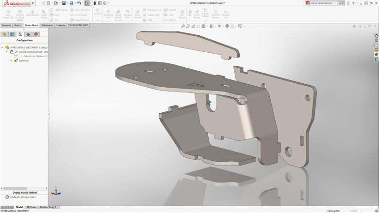 SOLIDWORKS 2018 Tab and Slot Feature for Sheet Metal and Weldments