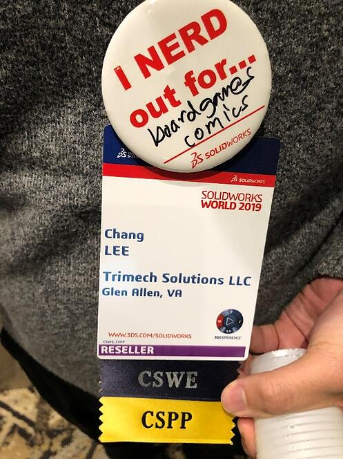 SOLIDWORKS World New Attendee Badge