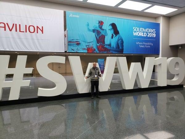 Chris Joren at SOLIDWORKS World 2019