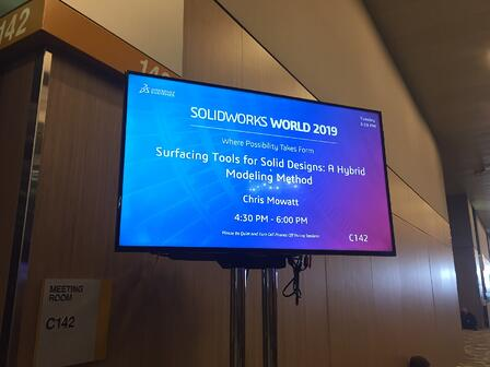 SOLIDWORKS World 2019 Presentation Day3