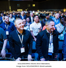 SOLIDWORKS World  2019 General Session Atendees