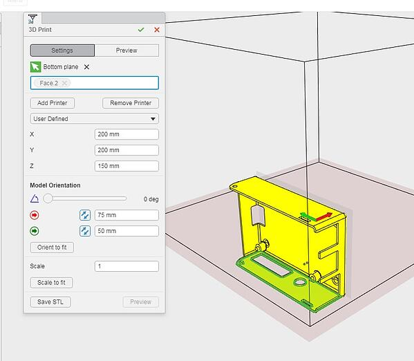 3D Printing Settings in xDesign