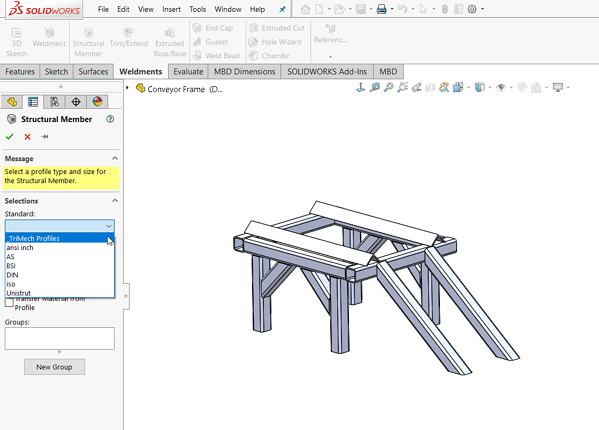 solidworks weldment library