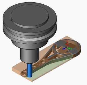 Visualize rendering bike mount