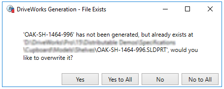Overwrite or reuse any pre-existing files