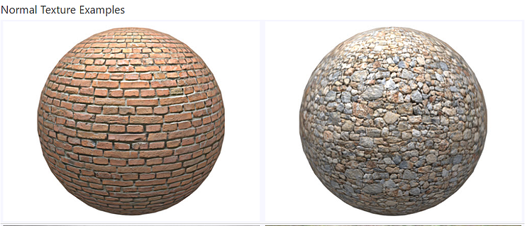 Normal texture examples