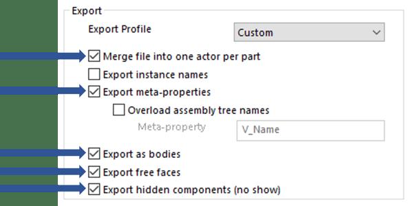 Export Profile Custom