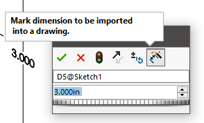 Mark Dimension Into Drawings in SOLIDWORKS