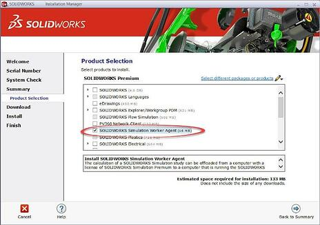 SOLIDWORKS Simulation Product Selection