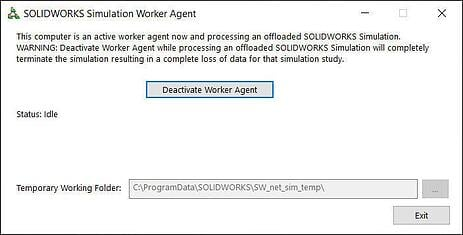 SOLIDWORKS Simulation Worker Agent