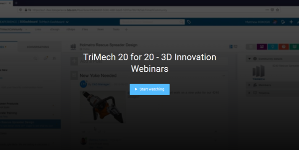 TriMech 20 for 20: 3D Innovation Webinars