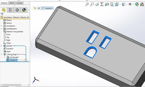 Library Feature Options in SOLIDWORKS