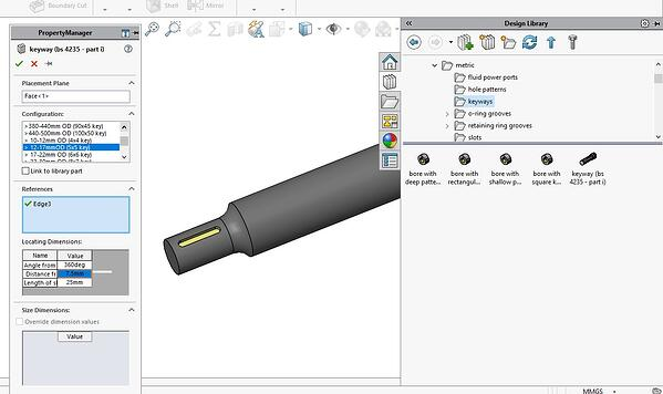 Library Feature in SOLIDWORKS