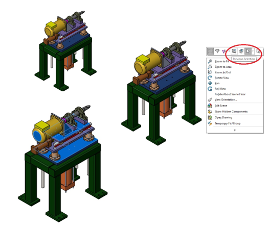 Previous Selection Option in SOLIDWORKS