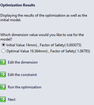 SimulationXpress Options