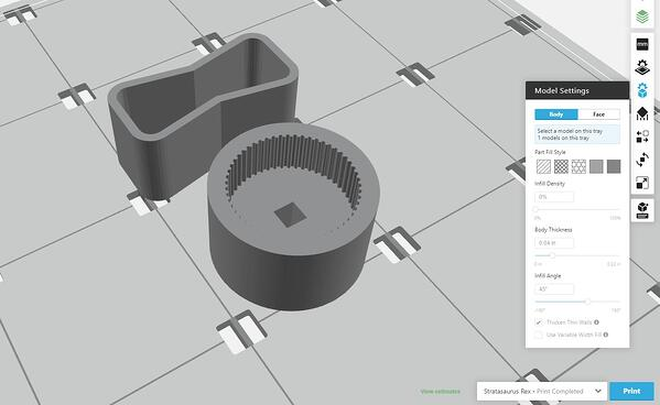 Model Setting in GrabCAD Print