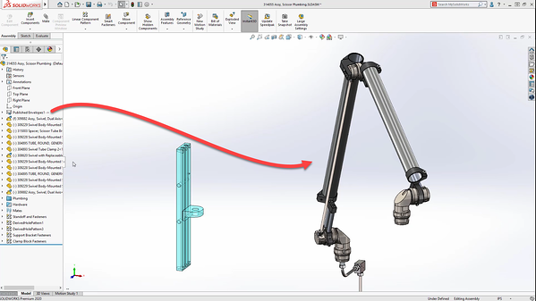 Envelope publisher in SOLIDWORKS 2020