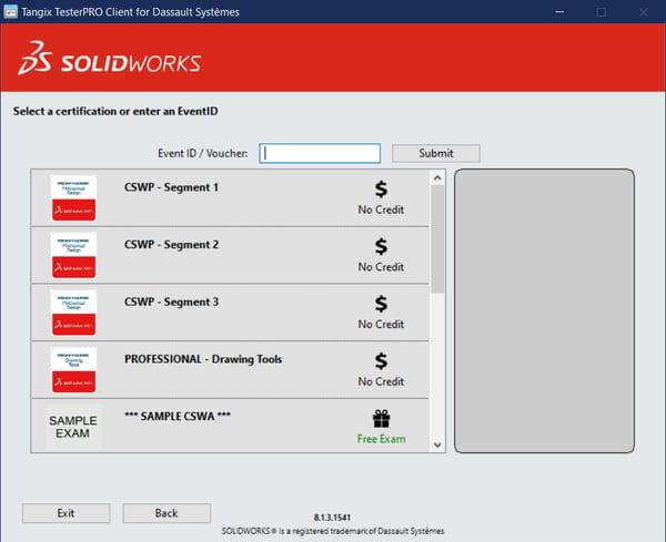 SOLIDWORKS Certification Voucher