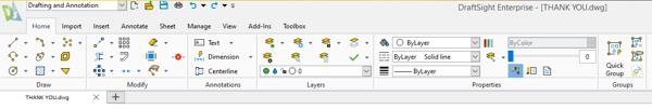 DraftSight toolbox options