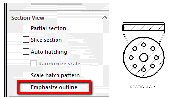 Emphasize Option in SOLIDWORKS Drawing