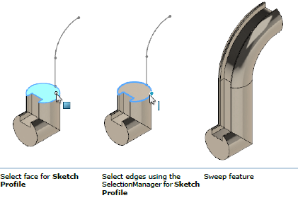 Swept feature in SOLIDWORKS